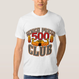 500 Club Bench Press Fitted T Shirt