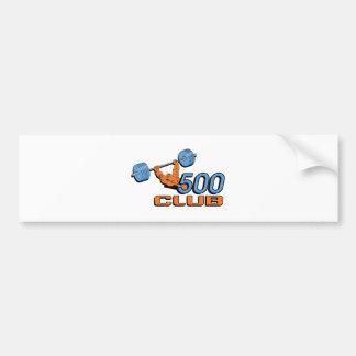500 Club Bumper Sticker