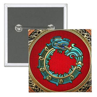 500 Dios Quetzalcoatl jade de la serpiente Pins