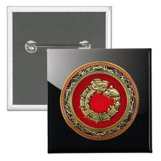 500 Dios Quetzalcoatl oro de la serpiente Pin