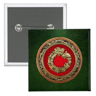 500 Dios Quetzalcoatl oro de la serpiente Pins