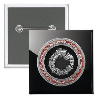 500 Dios Quetzalcoatl plata de la serpiente Pins