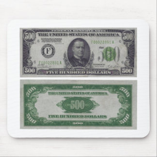 500 Dollar Federal Reserve Gold Certificate Mouse Pad