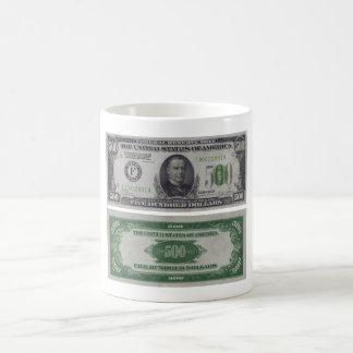 500 Dollar Federal Reserve Gold Certificate Mugs