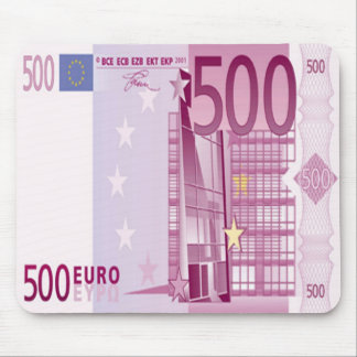 500 Euro Bill Mouse Pad