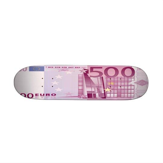 500 Euro Bill Skateboard Mini