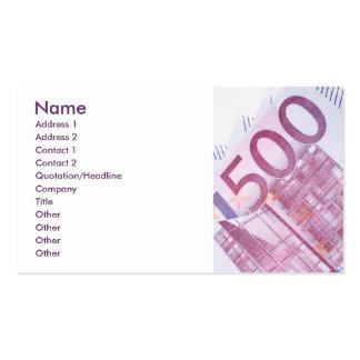 500 Euros Business Card