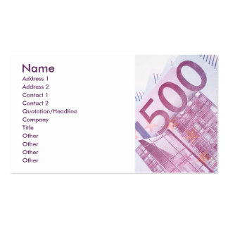 500 Euros Double-Sided Standard Business Cards (Pack Of 100)