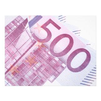 500 Euros Custom Flyer