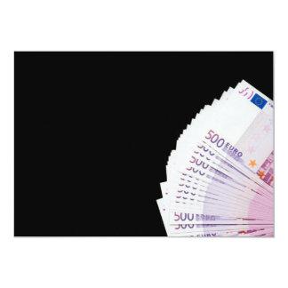 """500 euros invitación 5"""" x 7"""""""
