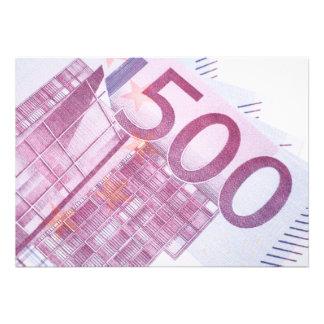 500 Euros Personalized Invite