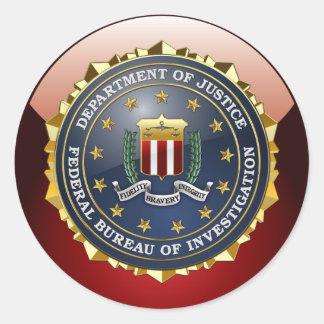 [500] FBI Special Edition Classic Round Sticker
