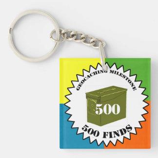 500 Finds Milestone Keychain