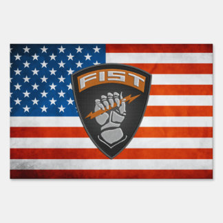 [500] Forward Observer (FIST) [Patch] Lawn Sign