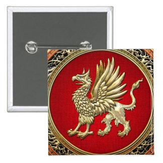 [500] Grifo sagrado del oro Pin