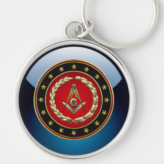 [500] Masonic Square and Compasses [3rd Degree] Keychain