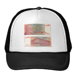 500 mil millones dinares Bill - Yugoslavia Gorros Bordados