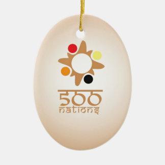 500 Nations Ceramic Ornament