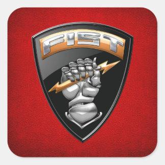 [500] Observador delantero (PUÑO) [emblema] Pegatina Cuadradas