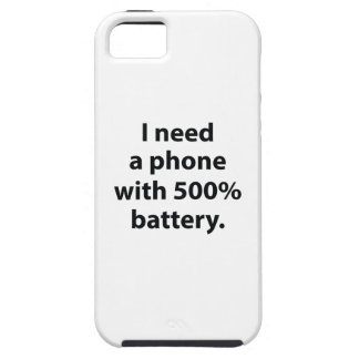 500 Percent Battery iPhone 5 Cover