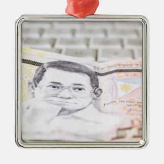 500 Peso Bill Metal Ornament