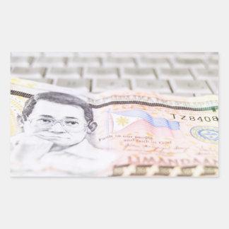 500 Peso Bill Rectangular Sticker