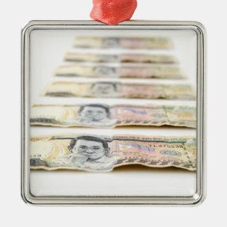 500 Peso Bills Metal Ornament