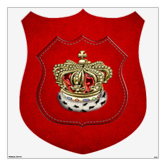 [500] Prince [King] Royal Crown [Fur+Gold][Red] Wall Decal