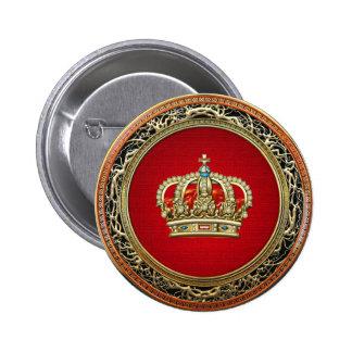 [500] Prince-Princess King-Queen Crown [Belg.Gold] Button