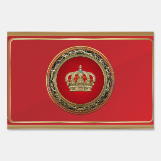 [500] Prince-Princess King-Queen Crown [Belg.Gold] Lawn Sign