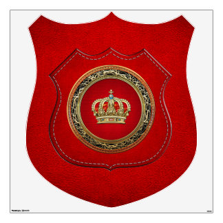 [500] Prince-Princess King-Queen Crown [Belg.Gold] Wall Decal