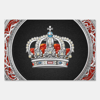 [500] Prince-Princess King-Queen Crown [Silver] Lawn Sign