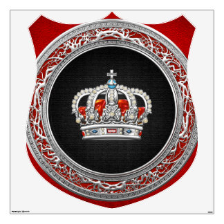 [500] Prince-Princess King-Queen Crown [Silver] Wall Decal