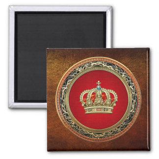 [500] Príncipe-Princesa Rey-Reina Crown Imán Cuadrado