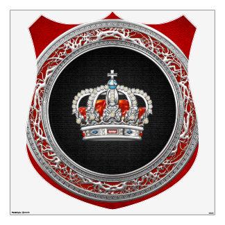 [500] Príncipe-Princesa Rey-Reina Crown [plata]