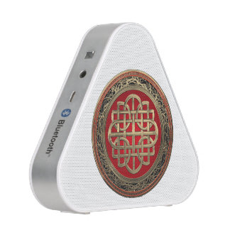 [500] Sacred Celtic Gold Knot Cross Bluetooth Speaker