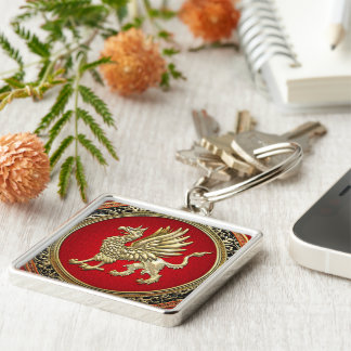 [500] Sacred Gold Griffin Key Chains