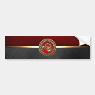 [500] Sacred Golden Scorpion on Red Bumper Sticker