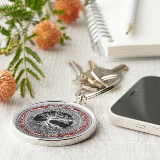 [500] Treasure Trove: Celtic Tree of Life [Silver] Keychain