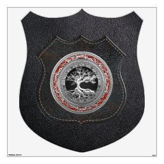 [500] Treasure Trove: Celtic Tree of Life [Silver] Wall Sticker