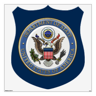 [500] U.S. Department of State (DoS) Emblem [3D] Wall Decal