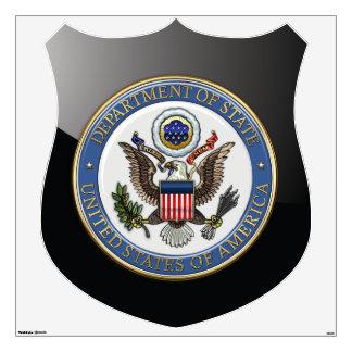 [500] U.S. Department of State (DoS) Emblem [3D] Wall Sticker