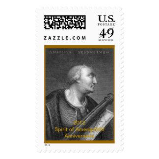 500o sello del aniversario de Amerigo Vespucci