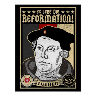 500th Anniversary Reformation Luther Poster-German Poster