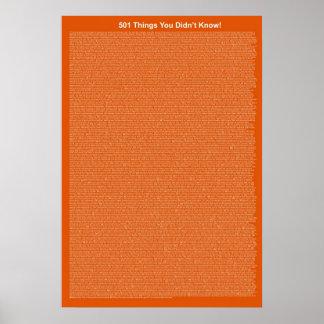 501 cosas que usted no sabía (pastel de calabaza) póster