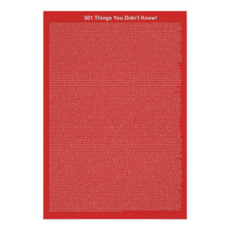 501 Things You Didn't Know (Red Brick) Poster