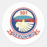 501o Insignias del regimiento de infantería (PIR) Pegatina Redonda