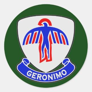 501o Regimiento de infantería DUI Pegatina Redonda