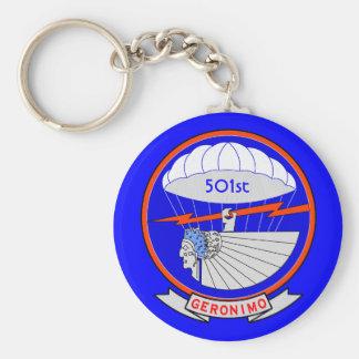501o Regimiento de ParachuteInfantry Llavero Redondo Tipo Pin