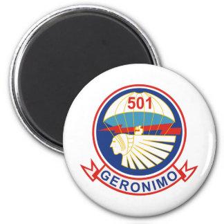 501st Parachute Infantry Regiment (PIR) Insignia 2 Inch Round Magnet